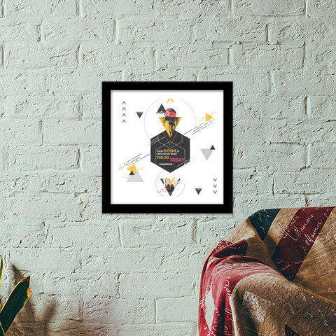 abstract art Premium Square Italian Wooden Frames | Artist : kiran shivlingkar