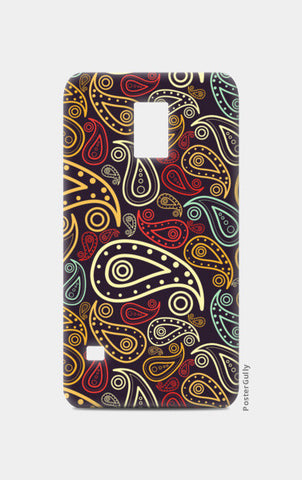 Abstract hand drawn floral illustration on multicolors Samsung S5 Cases | Artist : Designerchennai