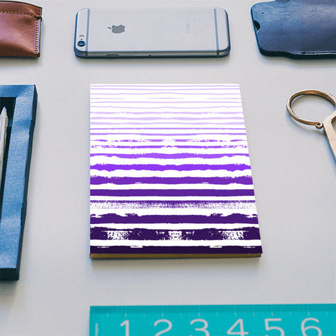 Uneven Purple Stripes Notebook | Artist : Amantrika Saraogi