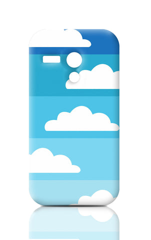Moto G Cases, Above The Sky Blue Moto G Case | Artist: Inderpreet, - PosterGully