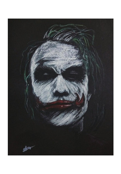 The Joker Heath Ledger Wall Art Artist Vivek Aind