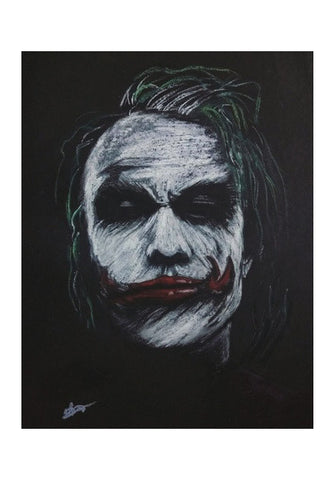 The Joker Heath Ledger Wall Art | Artist : Vivek Aind