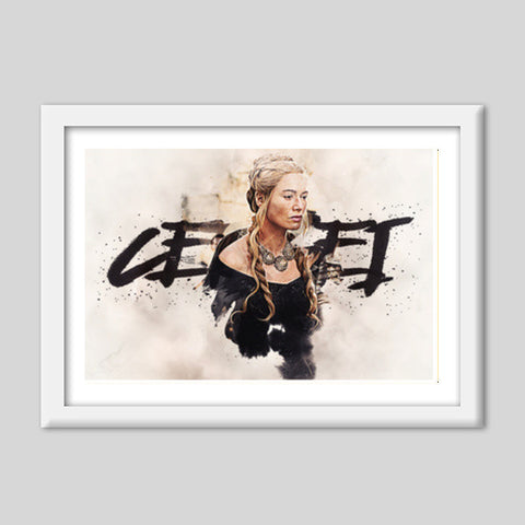 Cersei Game of Thrones | Digital Painting Premium Italian Wooden Frames | Artist : Gub Gub