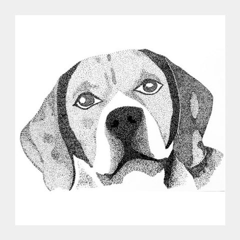 Beagle Puppy Square Art Prints | Artist : Gursimran Kaur