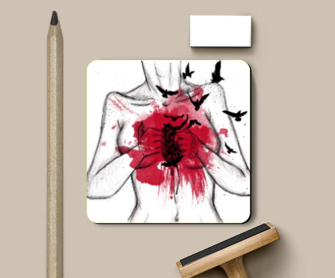 Coasters, Heart Less Coaster | Artist: Anahat Kaur, - PosterGully