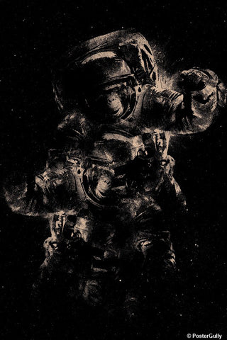 Wall Art, Lost In Space - Black | By Captain Kyso, - PosterGully - 1