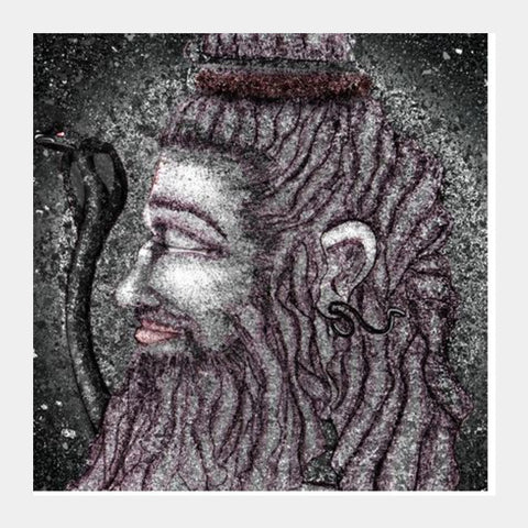 Square Art Prints, Shiva ashes Square Art Prints | Artist : Amrit Singh, - PosterGully