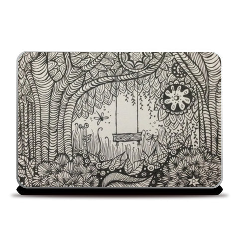 The secret garden Laptop Skins | Artist : archana chaudhary