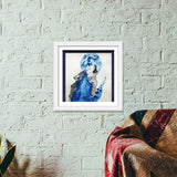 Premium Square Italian Wooden Frames, Wolf Blue Premium Square Italian Wooden Frames | Artist : Sukanya Chakraborty, - PosterGully - 6