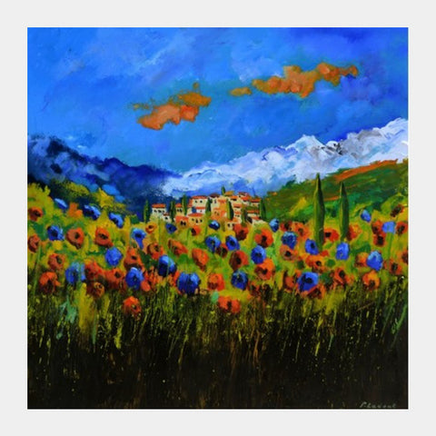 Tuscan Poppies Square Art Prints PosterGully Specials