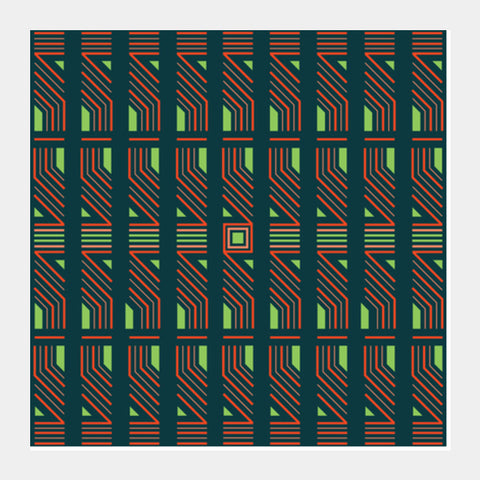 Pattern Digital Pulse Square Art Prints | Artist : Hardy16_
