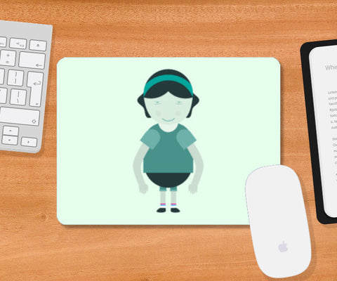 Happy School Girl Cartoon Mousepad | Artist : Mani Selvam