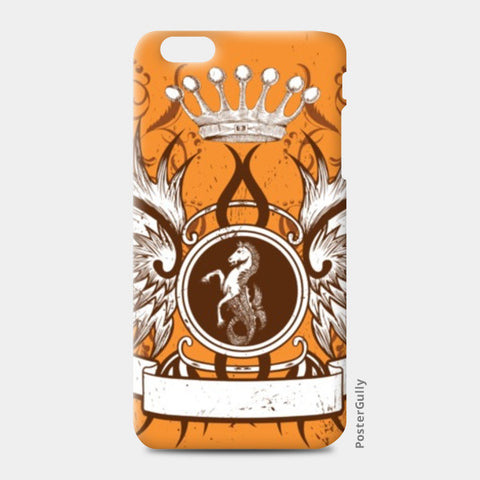 iPhone 6 Plus / 6s Plus Cases, horse with wing,Crown and Floral iPhone 6 Plus / 6s Plus Cases | Artist : Anshuraj Tyagi, - PosterGully