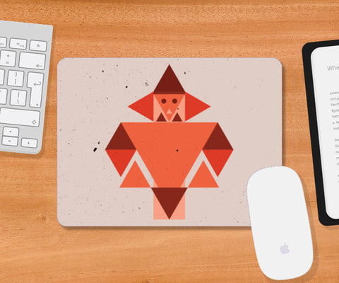 Geometric triangle human art Mousepad | Artist : Designerchennai