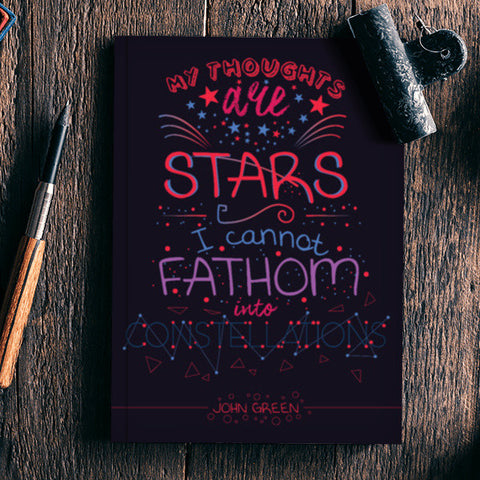 John Green Constellations  Notebook | Artist : Mohak Gulati