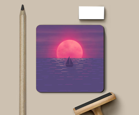 PosterGully Coasters, Into the Sea Coasters | Artist : Akshita Shah, - PosterGully