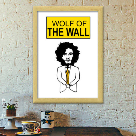 Premium Italian Wooden Frames, Game of Thrones | Jon Snow Premium Italian Wooden Frames | Artist : Charcoal, - PosterGully - 1