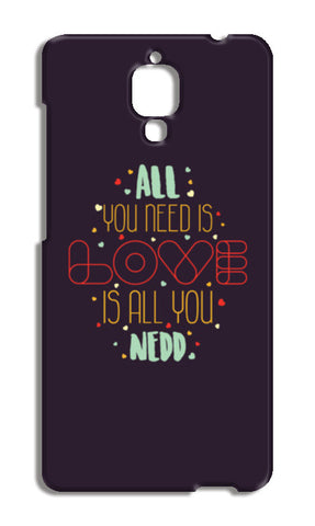 All you need is love is all you need Xiaomi Mi-4 Cases | Artist : Designerchennai