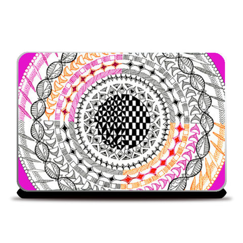 Laptop Skins, Colourful Geometric Mandala Laptop Skins | Artist : Amulya Jayapal, - PosterGully