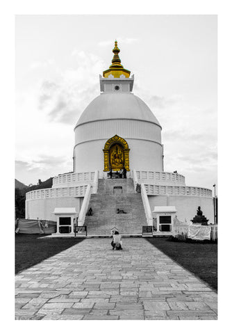 Wall Art, World Peace Pagoda Wall Art | Artist : Adama Toure, - PosterGully