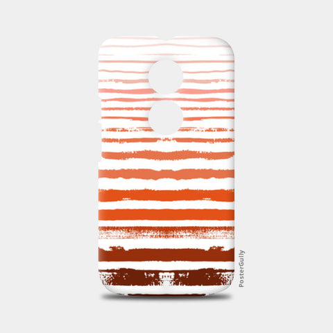 Uneven Orange Stripes Moto X2 Cases | Artist : Amantrika Saraogi