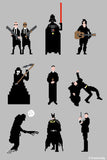 Wall Art, Men In Black Grey | By Captain Kyso, - PosterGully - 1