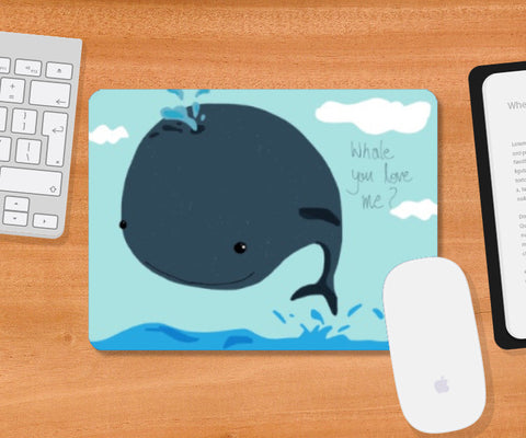 Mousepad, Whale i love you Mousepad | Artist: saurabhzuve, - PosterGully