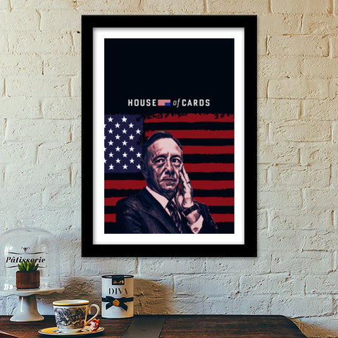 Frank Underwood- House of Cards Premium Italian Wooden Frames | Artist : Aninya Gangal