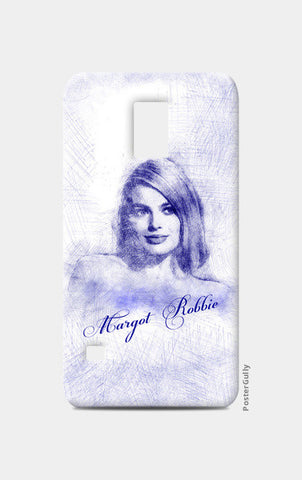 Margot Robbie pen sketch Samsung S5 Cases | Artist : Abhishek Faujdar