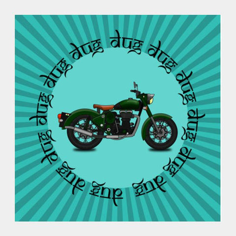 PosterGully Specials, royal enfield Square Art Prints | Artist : Himanshu Sood, - PosterGully