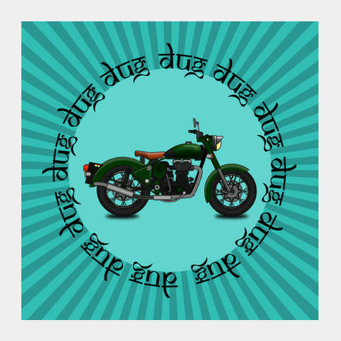 royal enfield Square Art Prints | Artist : Himanshu Sood
