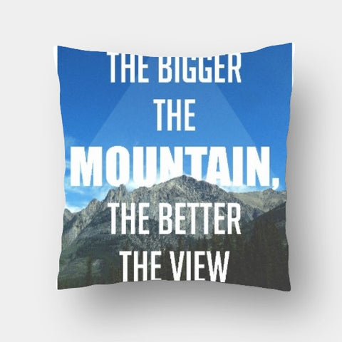 Cushion Covers, Mountain Quote Cushion Cover | Artist: Akshay Kamble, - PosterGully