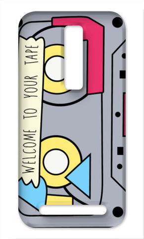 13 reasons why retro tape Asus Zenfone 2 Cases | Artist : Ayushi Teotia