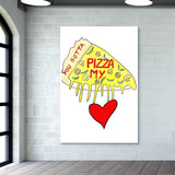 Pizza Love Wall Art | Artist : Ajooni Singh
