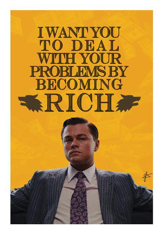PosterGully Specials, Wolf of Wall Street: Jordan Belfort Quote  Wall Art | Artist : Jason Ferrao, - PosterGully