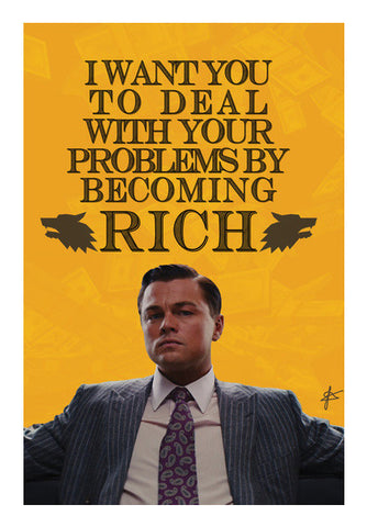 Wolf of Wall Street: Jordan Belfort Quote  Wall Art | Artist : Jason Ferrao