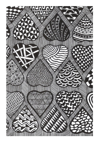 Prints in Hearts Wall Art | Artist : Aniket Mitra