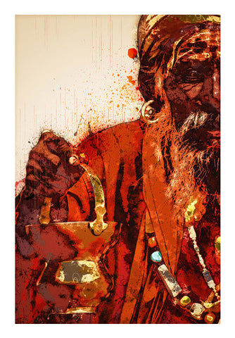 Sadhu Artwork Art PosterGully Specials