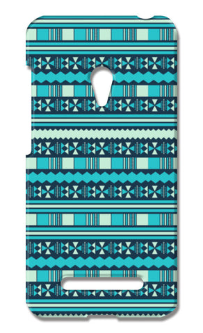 Blue Aztec Tribal Asus Zenfone 5 Cases | Artist : Designerchennai