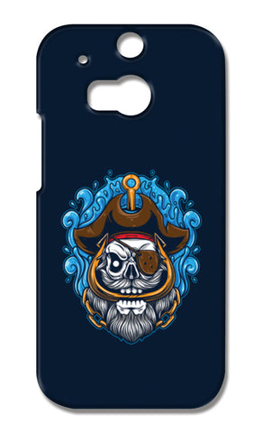 Skull Cartoon Pirate HTC One M8 Cases | Artist : Inderpreet Singh
