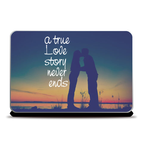A True Love Story Laptop Skins | Artist : Abhishek Bhardwaj