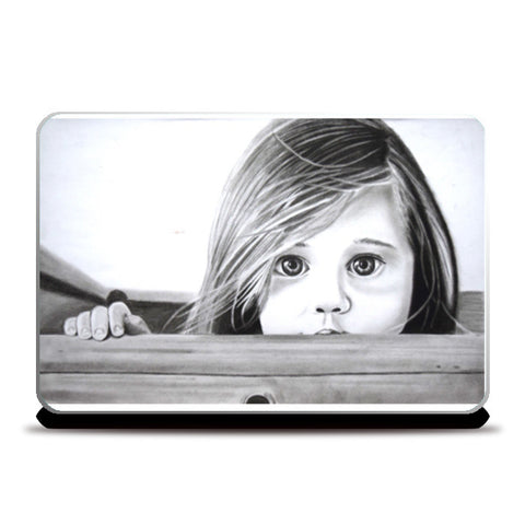 Hiding away from the evils of the world Laptop Skins | Artist : Rahul Tanwar