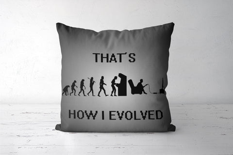 Gaming Evolution Cushion Cover | Shivansh Budakoti