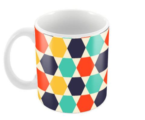 Multi colored repetition shape background Coffee Mugs | Artist : Designerchennai