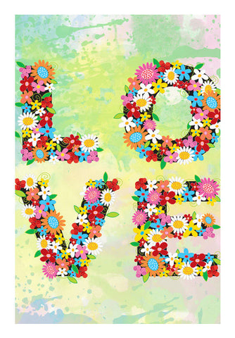 Love Floral Art PosterGully Specials