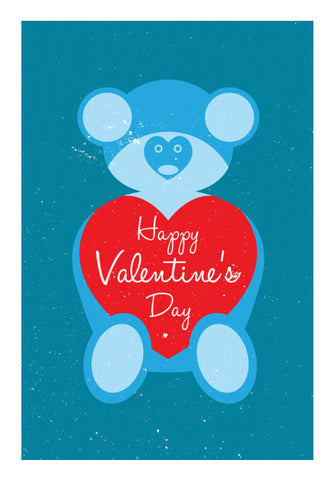 Blue Teddy Bear Art PosterGully Specials
