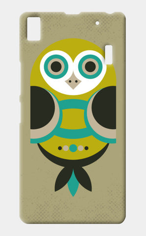 Unique geometric owl on dark Lenovo K3 Note Cases | Artist : Designerchennai