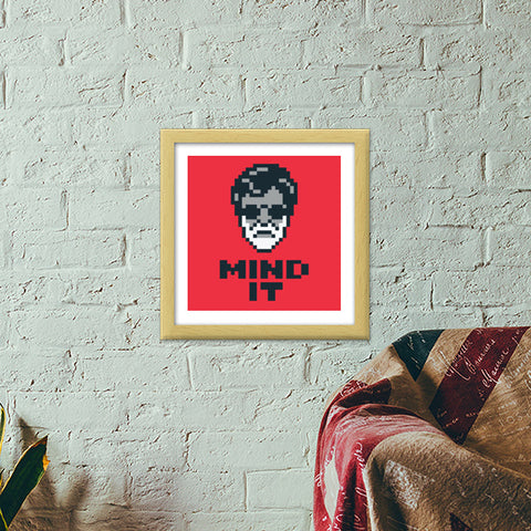 Mind It Pixel Art Premium Square Italian Wooden Frames | Artist : 8bitbaba