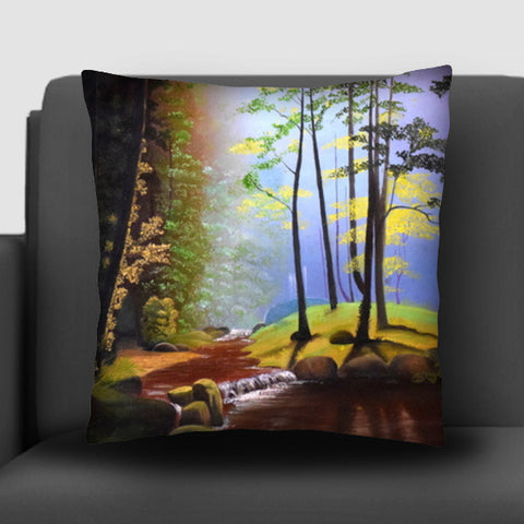 Forest Oil Painting Cushion Covers | Artist : Rahul Tanwar
