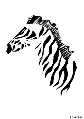 Wall Art, Zebra Artwork | Artist: Parakram Elisha Ram, - PosterGully - 1
